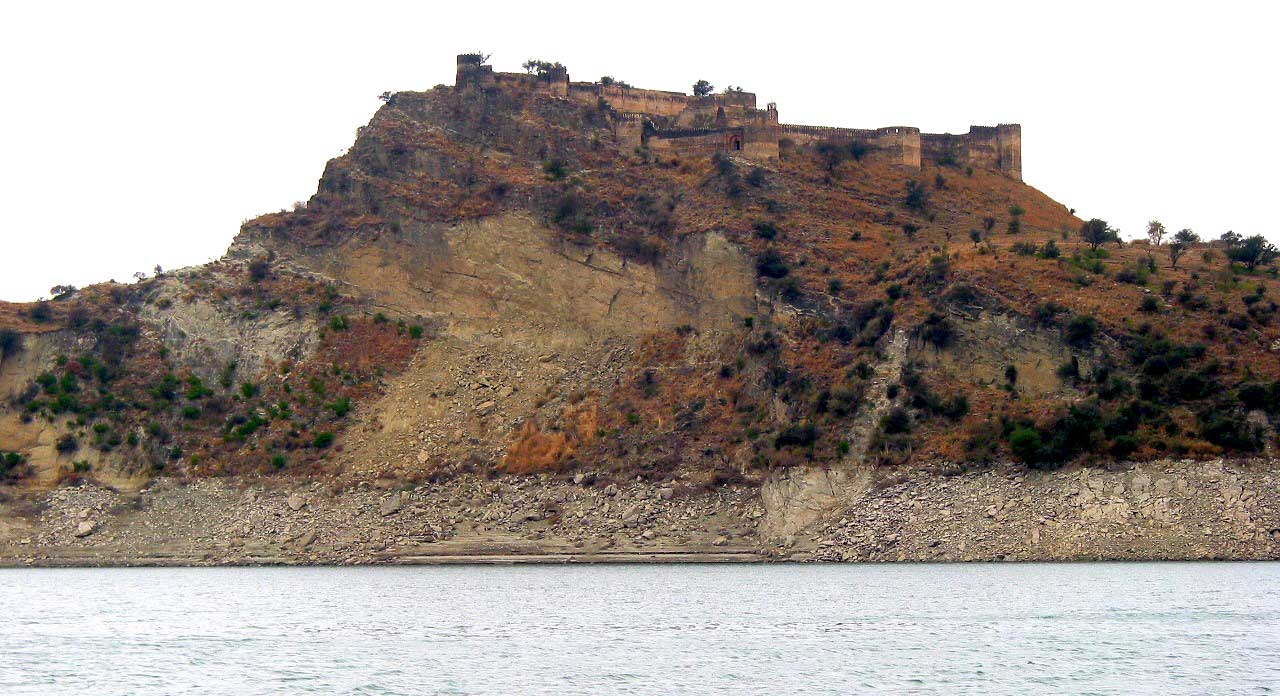 Ramkot Fort from Mangla Lake