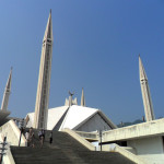 Stairs Leading to Main Courtyard of Faisal Mosque