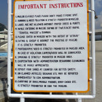 Instructions Board Faisal Mosque