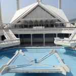 Water Pond and Stairs in Shah Faisal Mosque